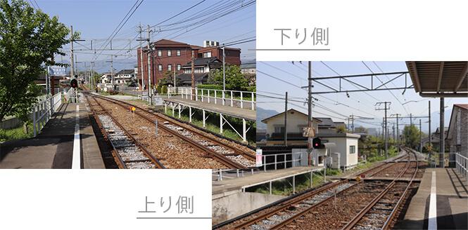城下駅ホーム