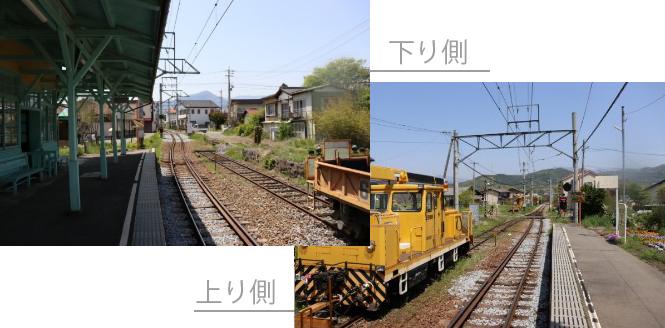 中塩田駅ホーム