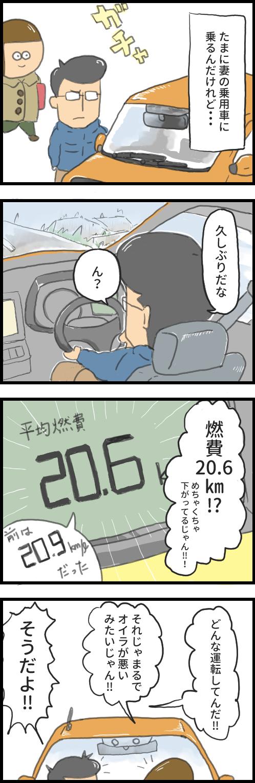 妻の運転の燃費 漫画